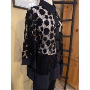 Moonlight Y&S fashion design artsy cardigan sz L
